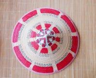 Lundayeh hatt på mattt sugrör Royaltyfri Fotografi