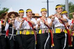 Lundayeh person som tillhör en etnisk minoritet av Borneo under den Malaysia självständighetsdagen Arkivfoton