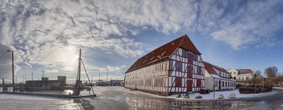 Lundeborg harbor in Denmark Royalty Free Stock Image