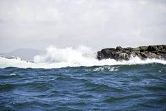 Lundey Island Wave Royalty Free Stock Image