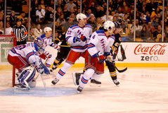 Lundqvist, Boyle and Del Zotto (NY Rangers) Royalty Free Stock Image