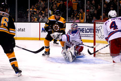 Lundqvist makes the save! Stock Photography