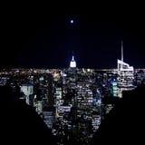 Lune au-dessus d'empire Image libre de droits