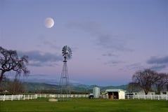 Lune au-dessus de Napa Images libres de droits