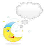 Lune avec la bulle rêveuse illustration libre de droits