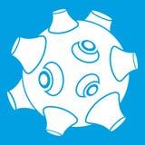 Lune avec le blanc d'icône de cratères illustration libre de droits