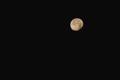 Lune avec une étoile Photographie stock libre de droits