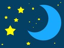 lune bleue une fois Image libre de droits