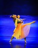 Lune bue-Hui de ballet au-dessus de Helan Image stock