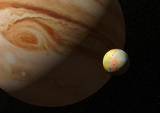 lune d'E/S Jupiter illustration de vecteur