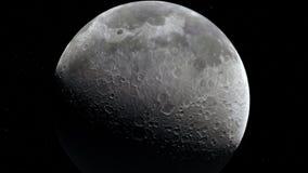 Lune dans l'espace extra-atmosphérique, surface De haute qualité, résolution, 4k Éléments de cette image fournis par la NASA illustration de vecteur
