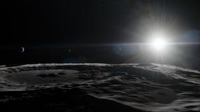 Lune dans l'espace extra-atmosphérique, surface De haute qualité, résolution, 4k Éléments de cette image meublés par la NASA illustration libre de droits