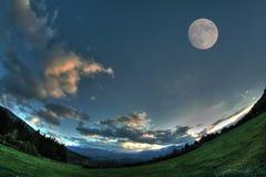Lune dans le ciel Images libres de droits