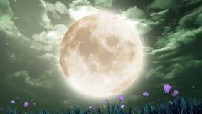 Lune dans le ciel de nuit Photographie stock