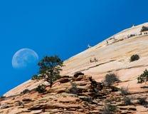 Lune dans Zion image libre de droits