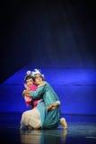 Lune de ballet d'étreinte-Hui au-dessus de Helan Photos stock