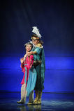 Lune de ballet de câlin-Hui au-dessus de Helan Images stock