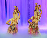 Lune de ballet de danse-Hui de pot de trésor au-dessus de Helan Image libre de droits