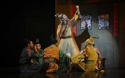 Lune de ballet de discussion-Hui de thé au-dessus de Helan Images stock