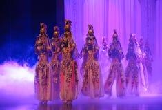 Lune de ballet de Hui Girl Mystery-Hui au-dessus de Helan Photo libre de droits