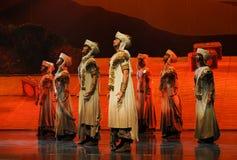 Lune de ballet de Hui Warrior-Hui au-dessus de Helan Photo stock
