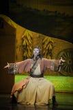 Lune de ballet de Qigong-Hui de méditation au-dessus de Helan Images libres de droits
