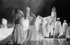 Lune de ballet de saint-Hui au-dessus de Helan Photo libre de droits