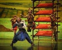 Lune de ballet de technologie-Hui d'affichage au-dessus de Helan Photos stock