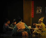 Lune de ballet de thé-Hui de la Chine au-dessus de Helan Image libre de droits