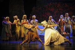 Lune de lutte-Hui de ballet au-dessus de Helan Image stock