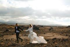 Lune de miel en Islande Photo libre de droits