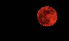 Lune de sang Photo libre de droits