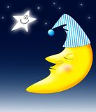 Lune de sommeil Images libres de droits