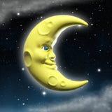 Lune de sourire illustration de vecteur