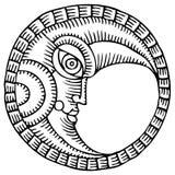 Lune dessinant deux Image libre de droits