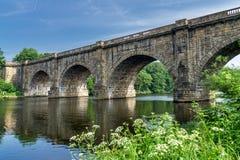 Lune dolinny akwedukt który niesie Lancaster kanał, Obrazy Royalty Free