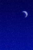 Lune en croissant Photo libre de droits