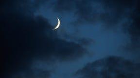 Lune en croissant Photographie stock libre de droits