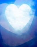 Lune en forme de coeur illustration stock