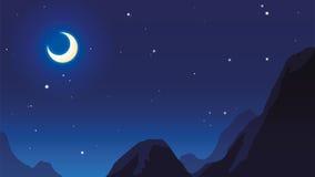 Lune et étoile Photo libre de droits