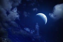 Lune et étoiles photo stock