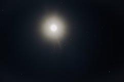 Lune et étoiles Images libres de droits