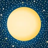 Lune et étoiles illustration libre de droits
