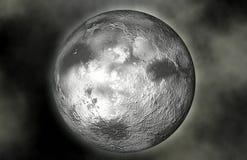 Lune et étoiles de planète Photographie stock