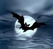 Lune et 'bat' Photos libres de droits
