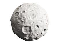 Lune et cratères. En forme d'étoile. Photographie stock libre de droits