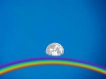 Lune et jour Photo stock