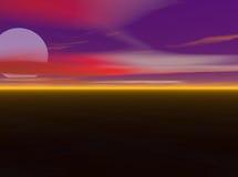 Lune et nuages Photographie stock libre de droits