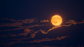 Lune et nuages Image libre de droits