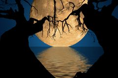 Lune et ombres Photographie stock
